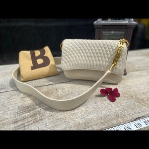 Authentic   Bally Vintage cream quilted bag